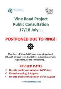 Poster explaining consultation postponement and new dates